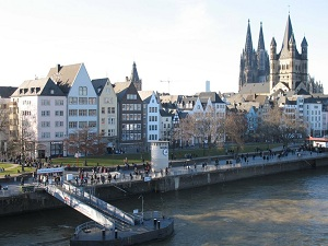 Cologne - At the wharf